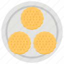 bakery item, baking cookie, biscuits, chocolate cookie, snack icon