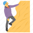 climber, climbing, climbing hobby, go up, hiking, mountain climbing icon