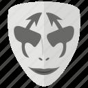 comedy, joker, mask, spooky mask, terrible mask, zombie mask