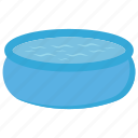 baby bath, kids bathtub, kids water tub, mini water pool icon