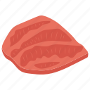 bbq meat, beef, meat, meat piece, steaks icon