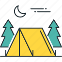 camping, camp, campground, campsite, tent