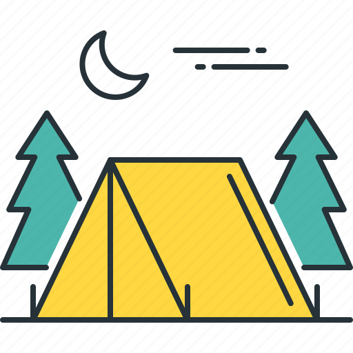 camp, campground, camping, campsite, tent icon