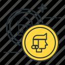 coins, coins collector icon