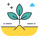 composting, green, growing, nature, plant, planting icon