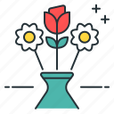 arranging flowers, bouquet, flower arrangement, flowers, rose icon