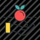 farming, organic, organic farming, apple, hand