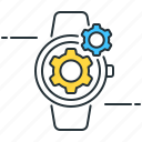 clock, gears, watch, watchmaking icon