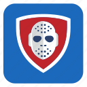 application, blue, club, hockey, red, shield icon
