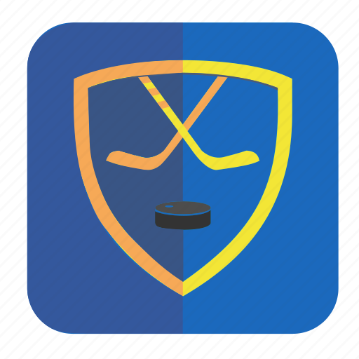 application, blue, game, hockey, puck icon