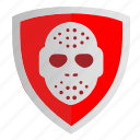 club, hockey, mask, shield, sign icon