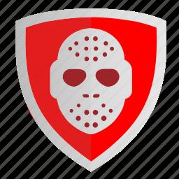 club, hockey, mask, shield, sign icon