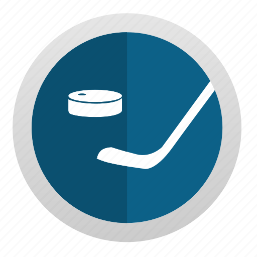 game, hockey, puck, round, sign icon