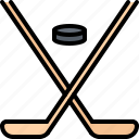 hockey, match, player, puck, sport, stick icon