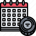 calendar, date, hockey, match, player, sport icon
