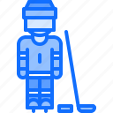 hockey, man, player, protection, sport, uniform icon