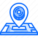 hockey, location, map, pin, player, sport icon