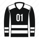 cloth, collar, forward, hockey, jersey, shirt, sport uniform icon