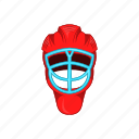 cartoon, equipment, game, helmet, hockey, protection, sport icon