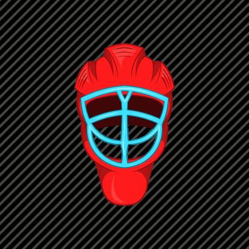cartoon, equipment, game, helmet, hockey, protection, sport icon
