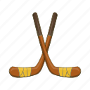cartoon, equipment, game, hockey, sport, stick, team icon
