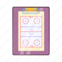 cartoon, coach, game, hockey, sport, strategy, team icon