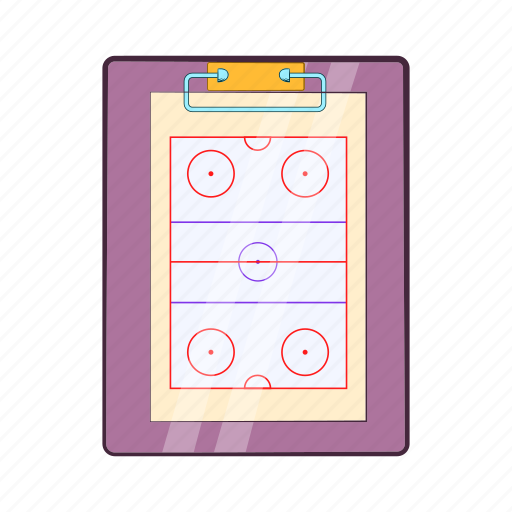 cartoon, coach, game, hockey, sport, strategy, team icon