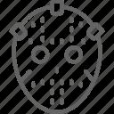 goalkeeper, helmet, hockey, ice, mask, sport, uniform icon