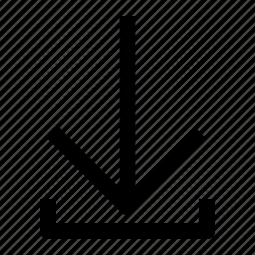 arrow, data, download, transfer icon
