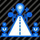 highway, location, navigation, pin, road, street