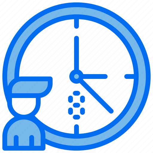 business, clock, interview, ontime, person icon