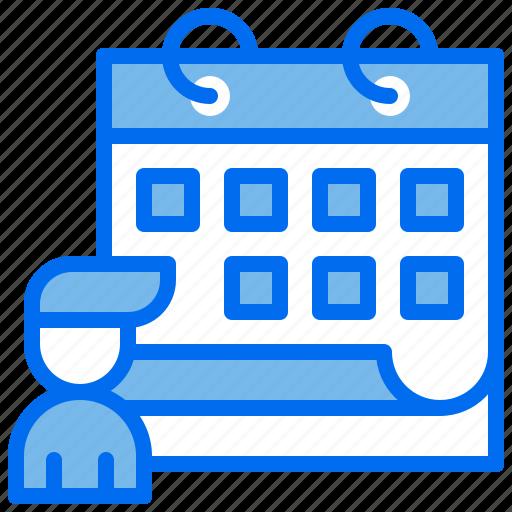 business, calendar, interview, person, schedule icon