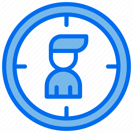 business, hiring, person, recruitment, target icon