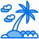 beach, coconut, island, sea, tree, vacation icon