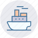 cruise, holiday, ocean, pacific, ship, transportation, travel icon