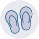 beach, footwear, holiday, shoes, slipper, travel icon