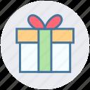 birthday gift, box, christmas, gift, gift box, holiday, present icon