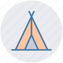 camp, camping, canopy, friends, shelter, sleep, tent icon