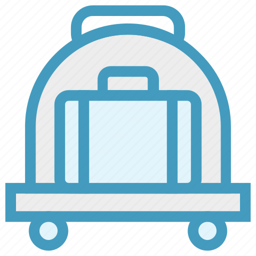 Airport, bag, cart, luggage, luggage cart, travel bag, trolley icon - Download on Iconfinder