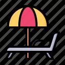 beach, chair, umbrella, summer, holiday