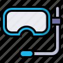 diving, goggles, scuba, glasses, dive