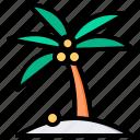 island, palm, tree, beach, vacation