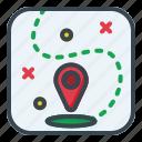 pointer, location, map, pin, navigation