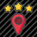 star, location, map, pin, gps