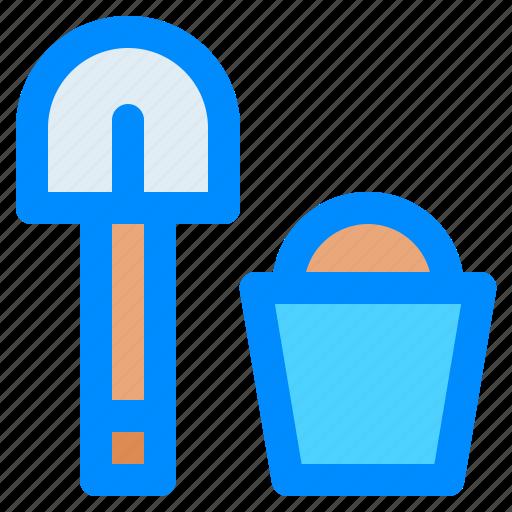 bucket, destination, holiday, sand0, travel, traveling, vacation icon