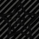fish, marine, star, star fish icon