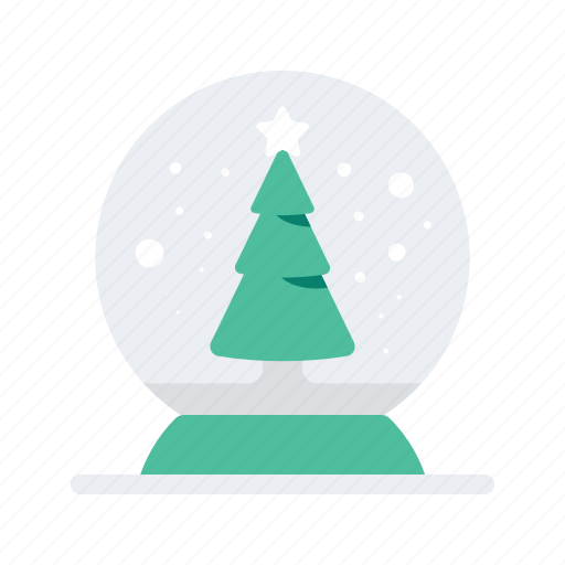 christmas, holiday, occasion, snowglobe, tree, vacation icon