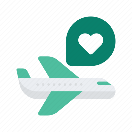 airplane, holiday, occasion, plane, romance, vacation, valentine icon