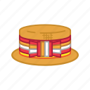 hat, holiday, wood icon