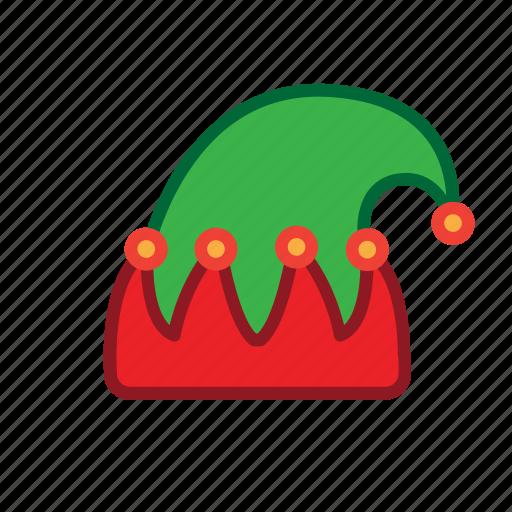 chrismas, elf, hat icon